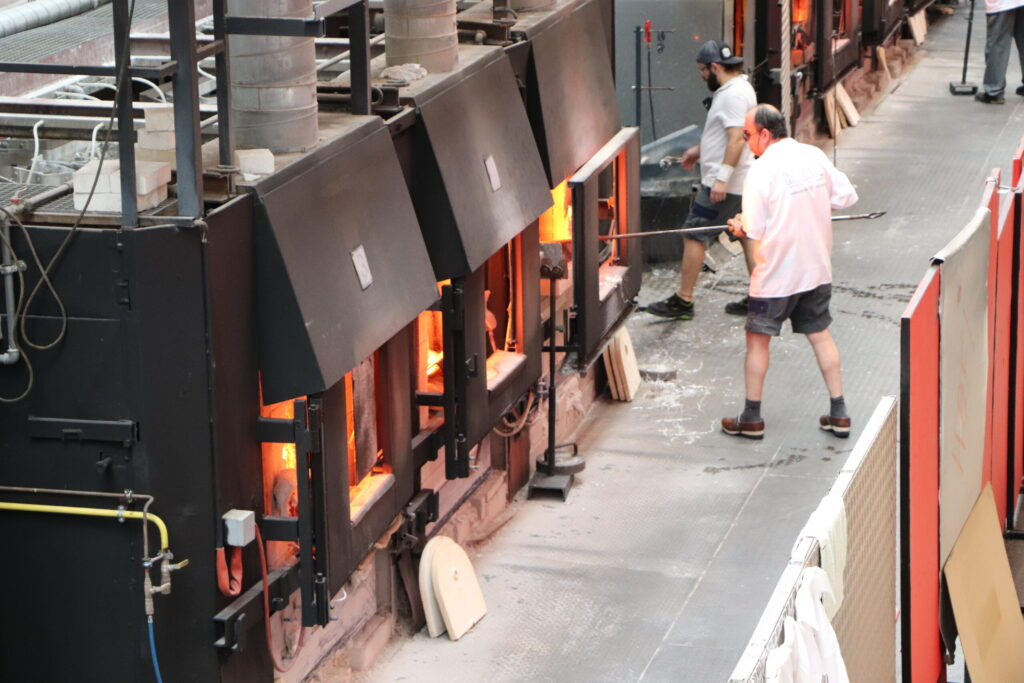 Glass Blowing Ovens at Riedel Kufstein Factory