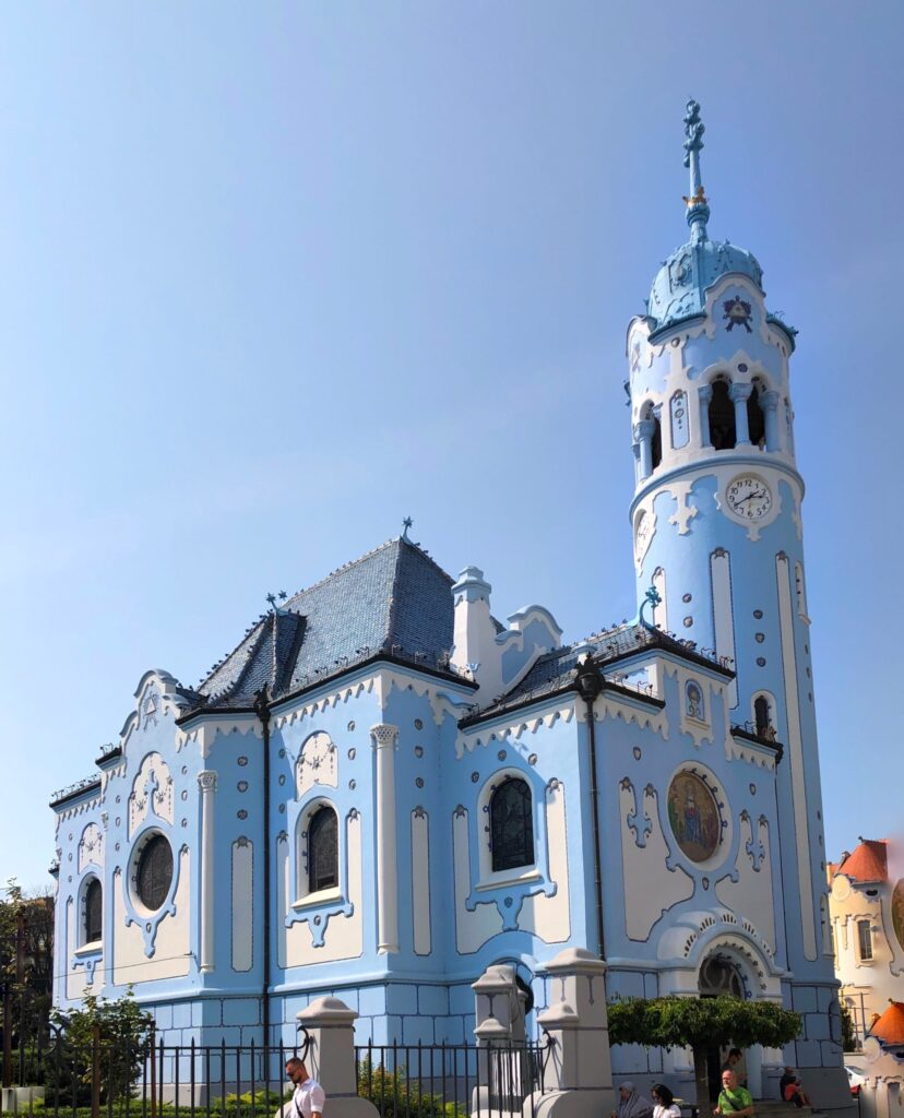 The Church of St Elizabeth's or better known as the Blue Church in Bratislava Slovakia