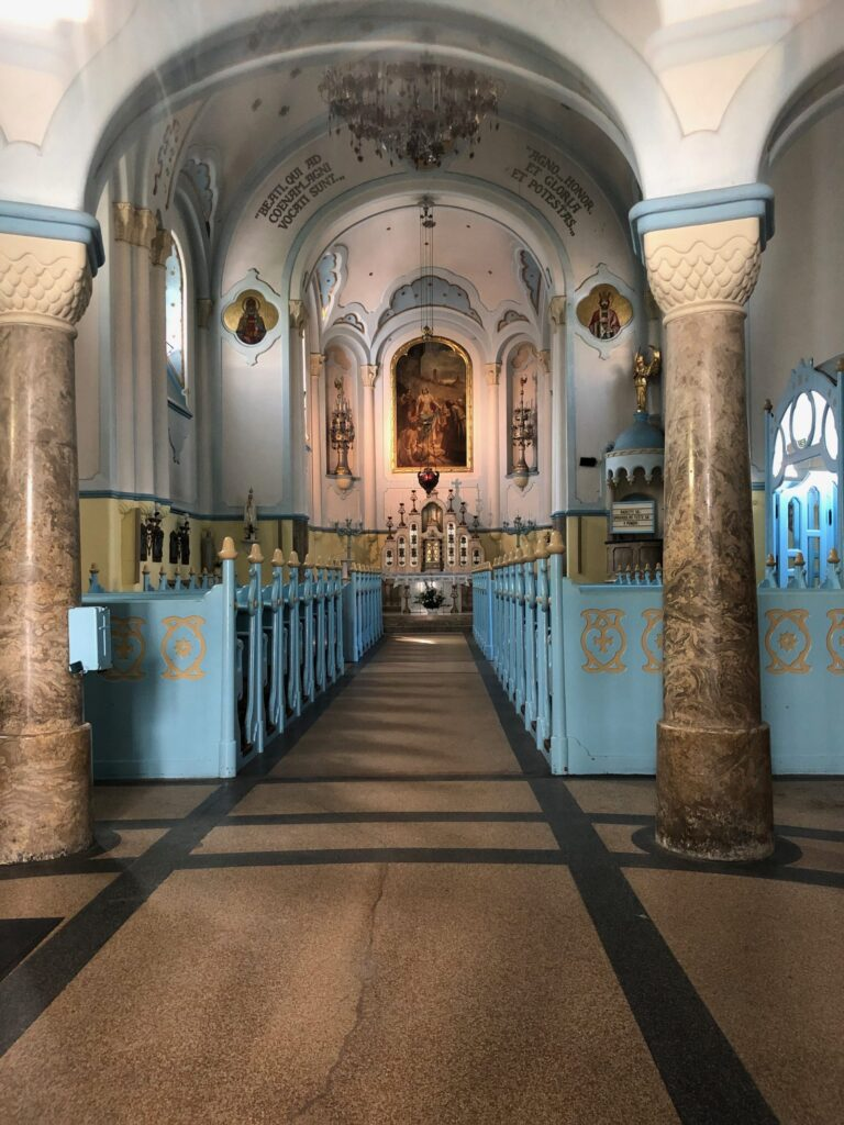 The Church of St Elizabeth's or better known as the Blue Church (interior) in Bratislava Slovakia