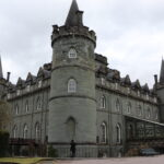 Inveraray Castle, located in west Scotland on the shores of Loch Fyne