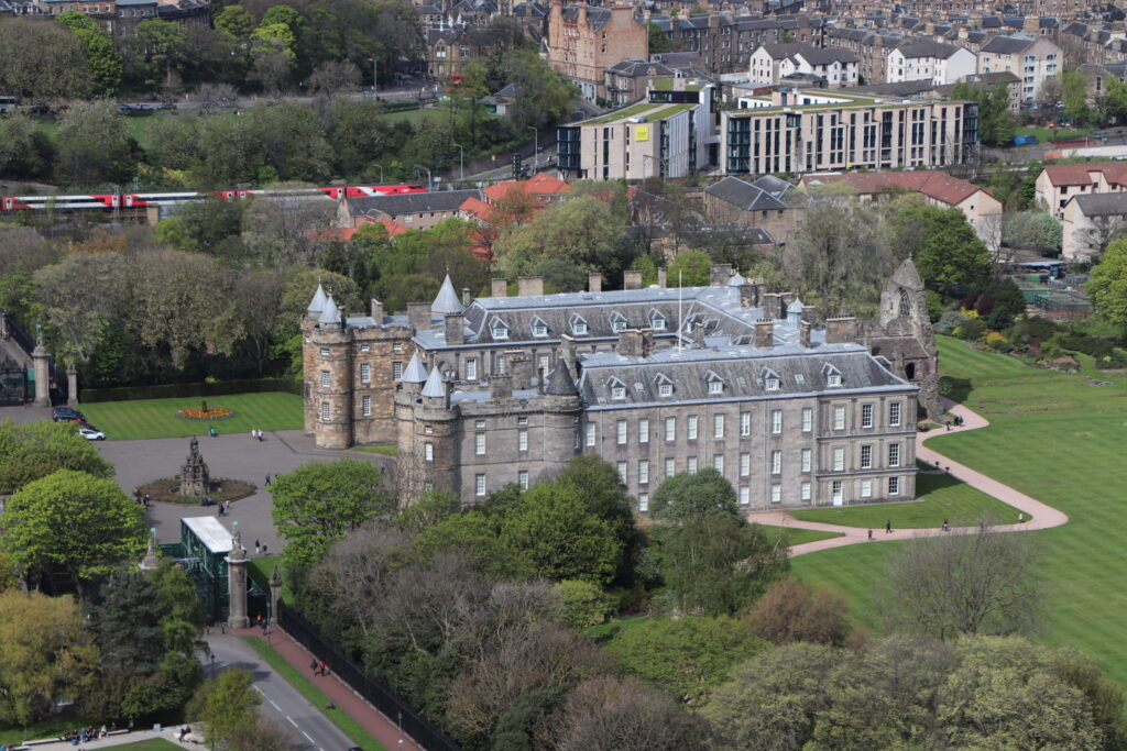 The Palace of Holyrood House in Edinburgh Scotland