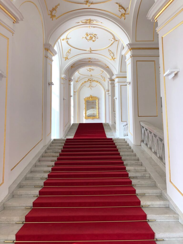 Red Carpet in Bratislava Palace Stairway Slovakia