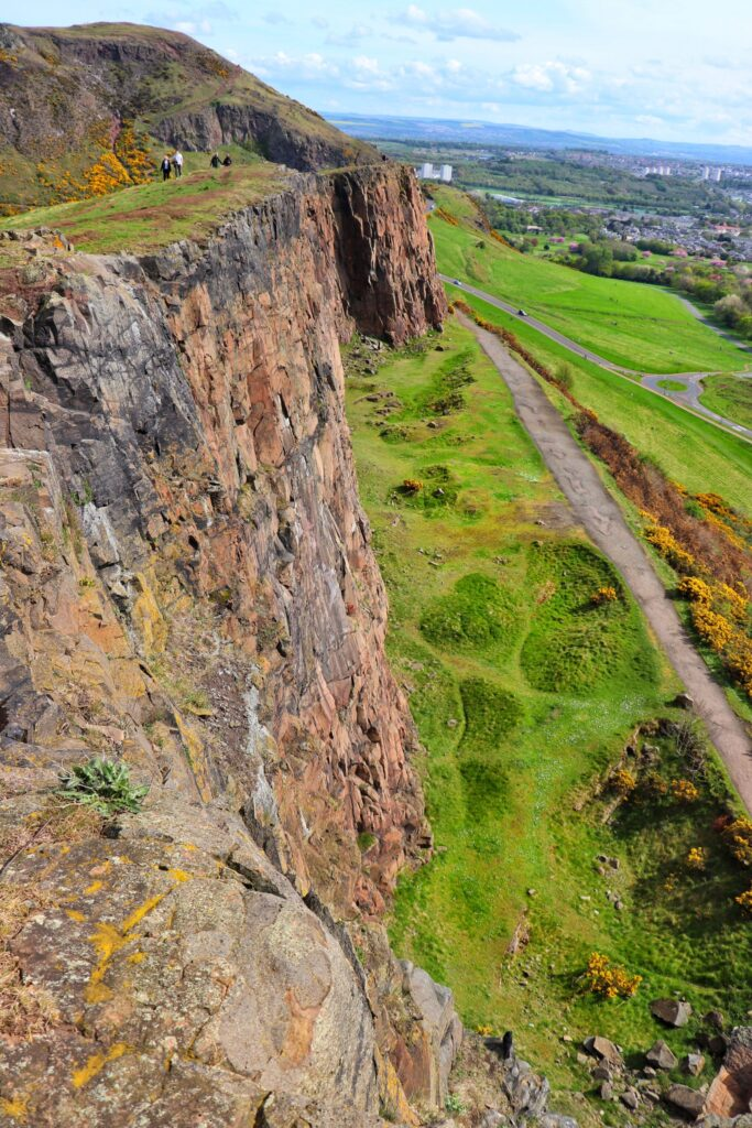 Salisbury Crags at Edinburgh Scotland