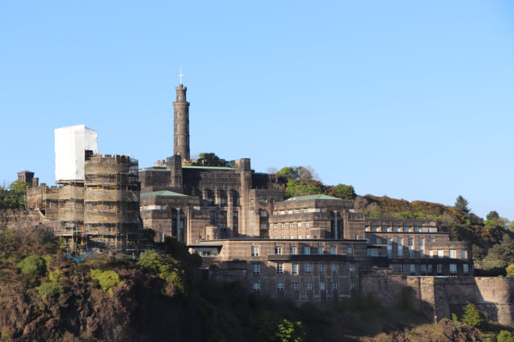 View of Calton Hill at Edinburgh Scotland