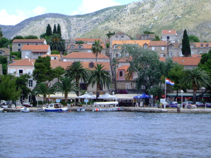 View of Cavtat Croatia from the water