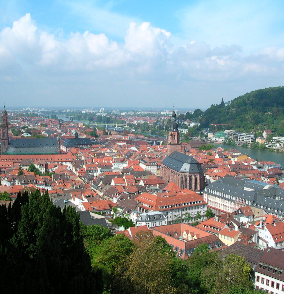 View of Heidelberg Germany from the hilltop