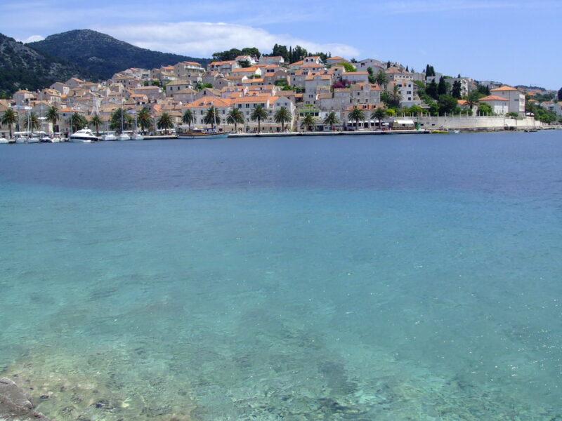 View of the town of Hvar Croatia from the water
