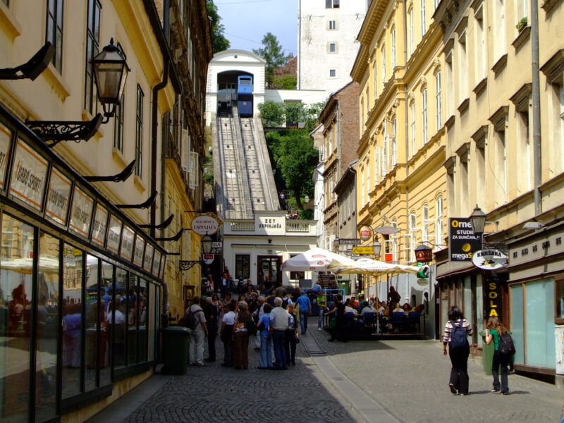The funucular at Zagreb Croatia