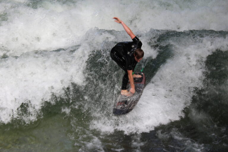 Surfer in English Garden Munich