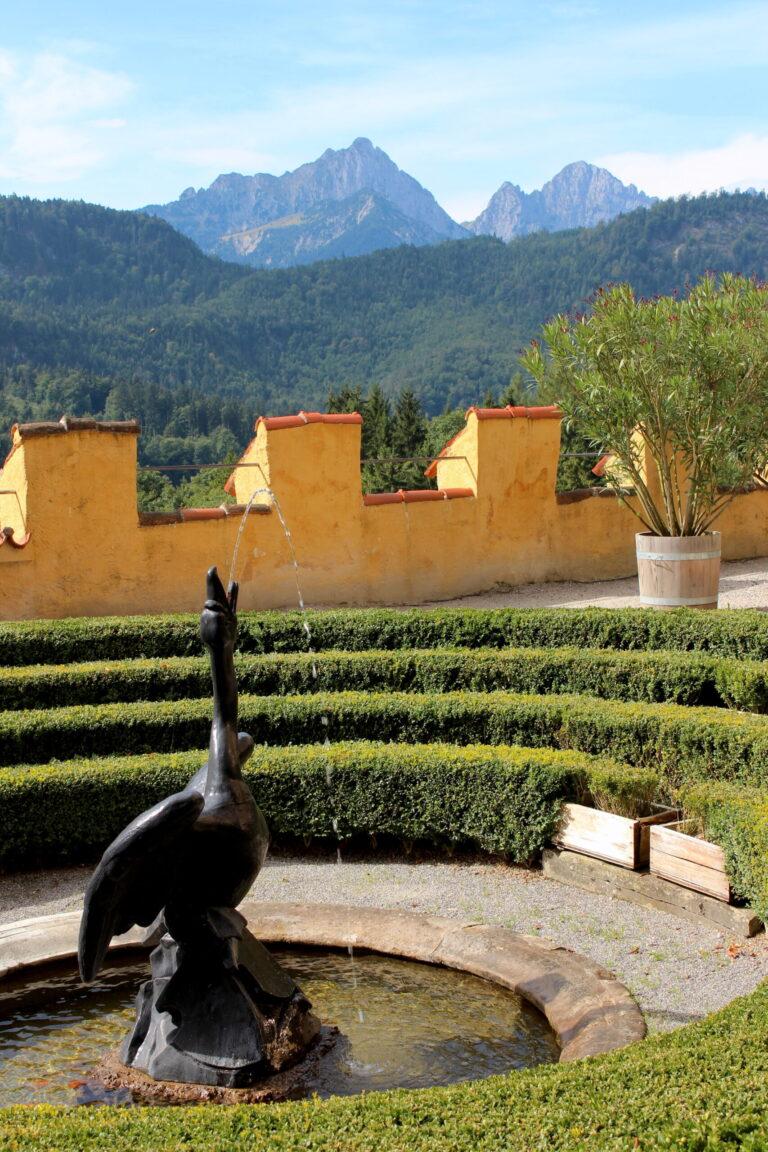 Swan Garden at Hohenschwagau Castle