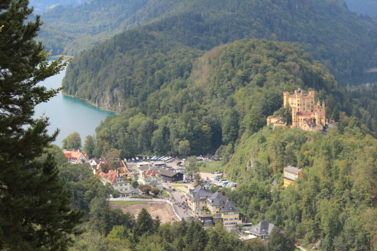 View of Hohenschwagau Castle from Neuschwanstein Castle