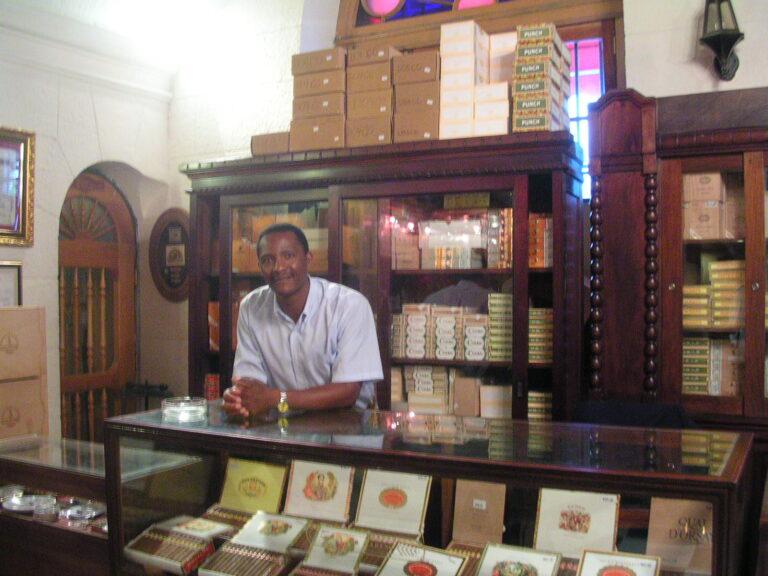 Cigar Store in the Partagas Factory Havana Cuba