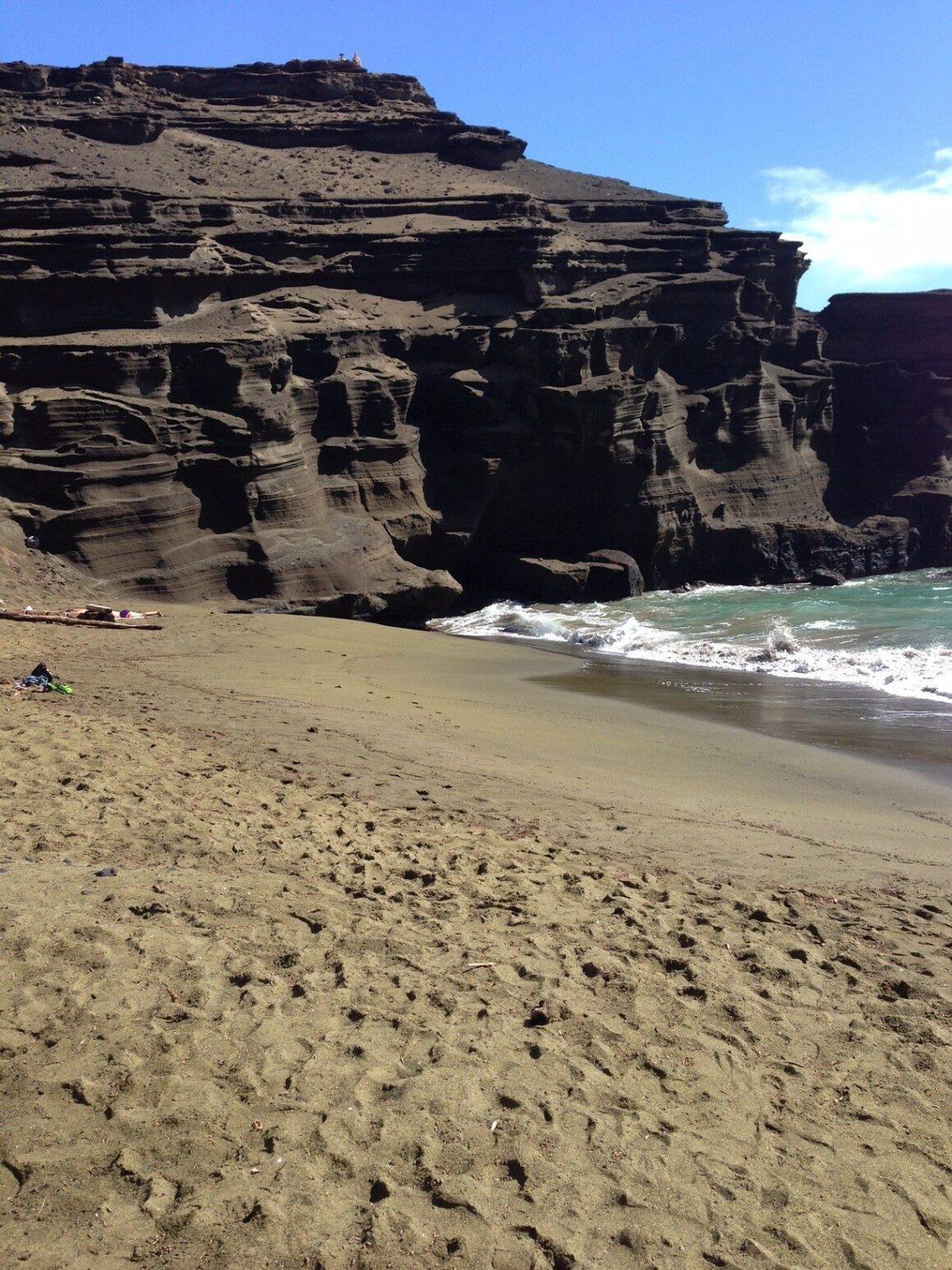 Green Sand Beach 2 at Hawaii's South Point