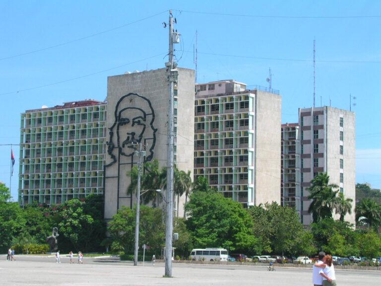 Ministry of Interior building in Plaza de la Revolucion Havana Cuba