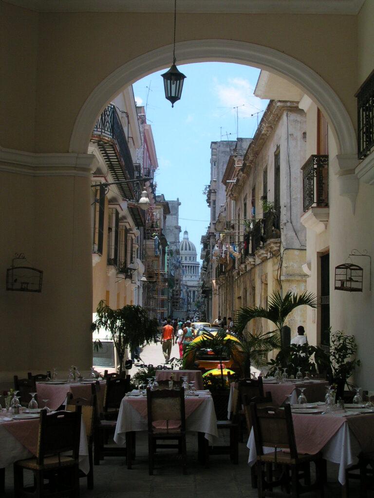 Outdoor Restaurant  in Havana Cuba