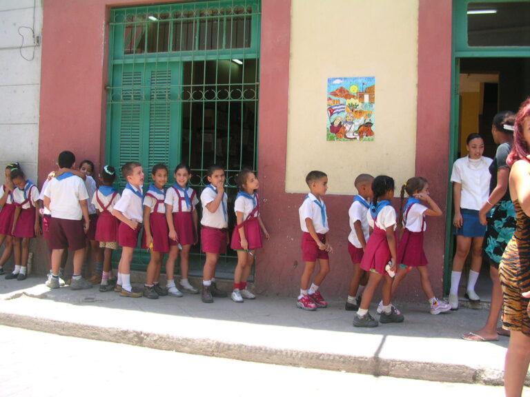 School Children in Havana Cuba