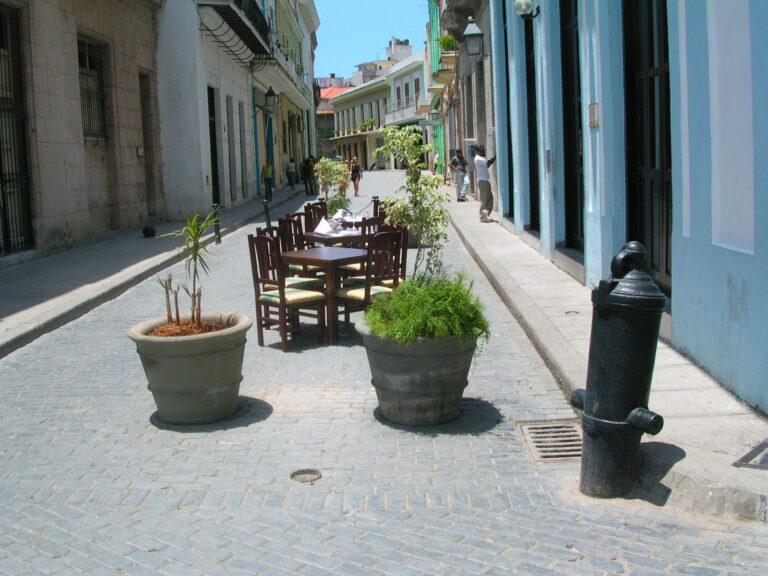 Small Outdoor Restaurant in Havana Cuba