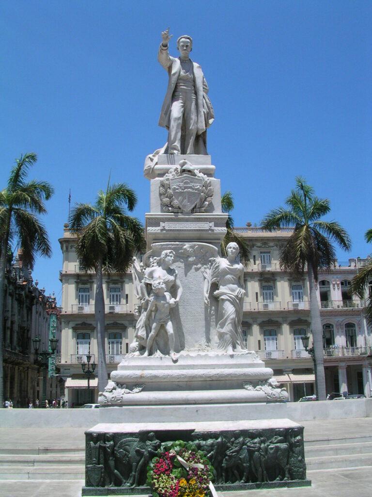 Cuba, Havana. Statue of Jose Marti, National Hero, Parque Central, Central
