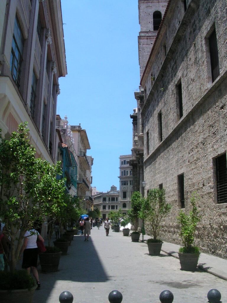 Walkway in Havana Cuba