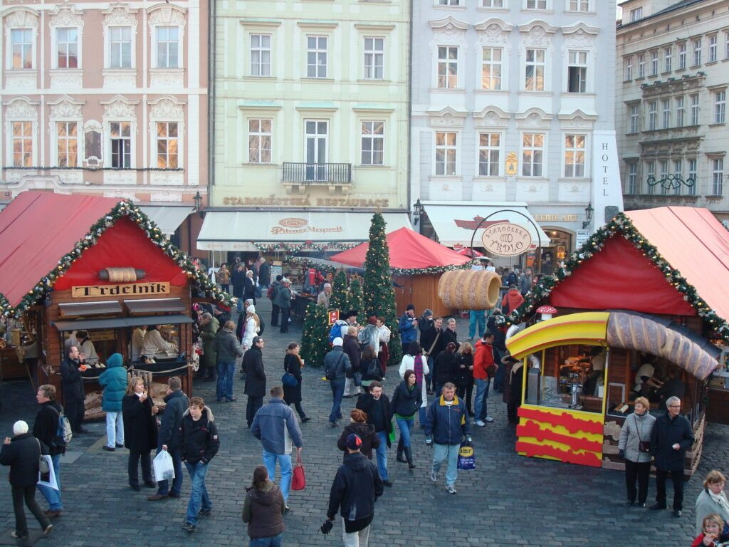 Christmas Market in Prague Czech Republic in Old Town Square