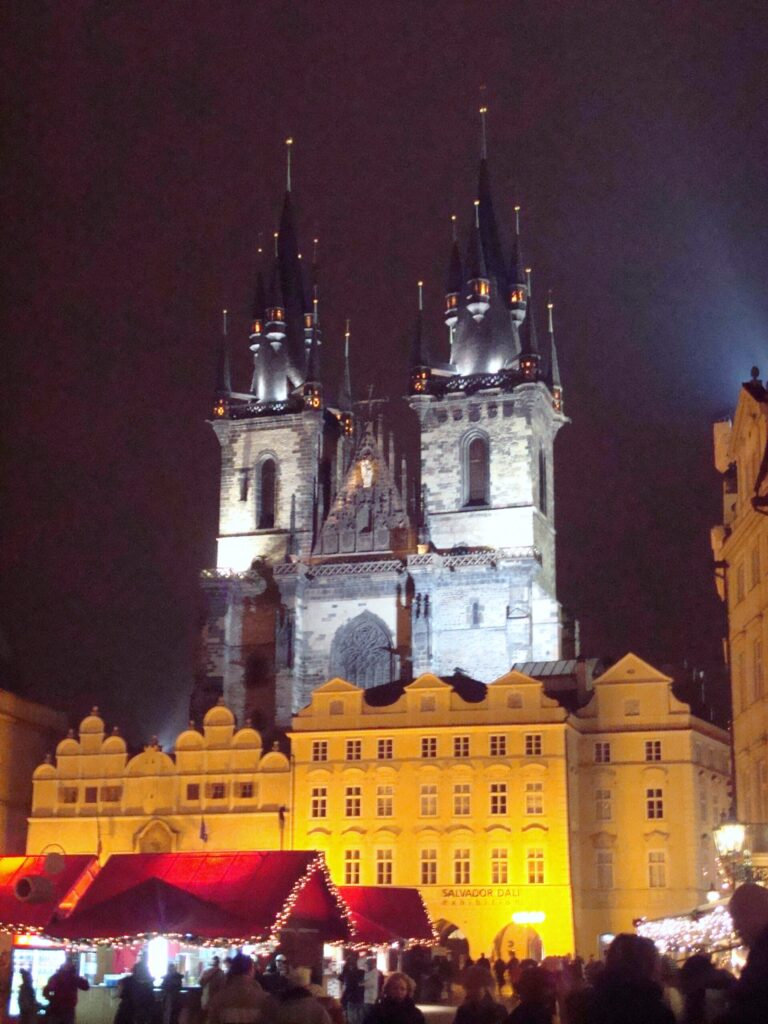 Prague Czech Republic in Old Town Square During Evening
