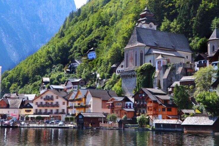 Hallstatt Austria from the lake