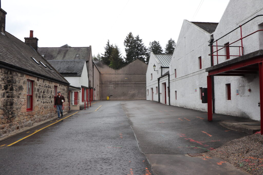 Warehouses at Aberlour Distillery located in Speyside Scotland
