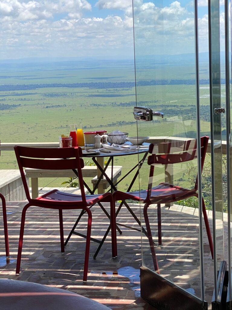 Angama Mara Breakfast on Deck in the Maasai Mara of Kenya