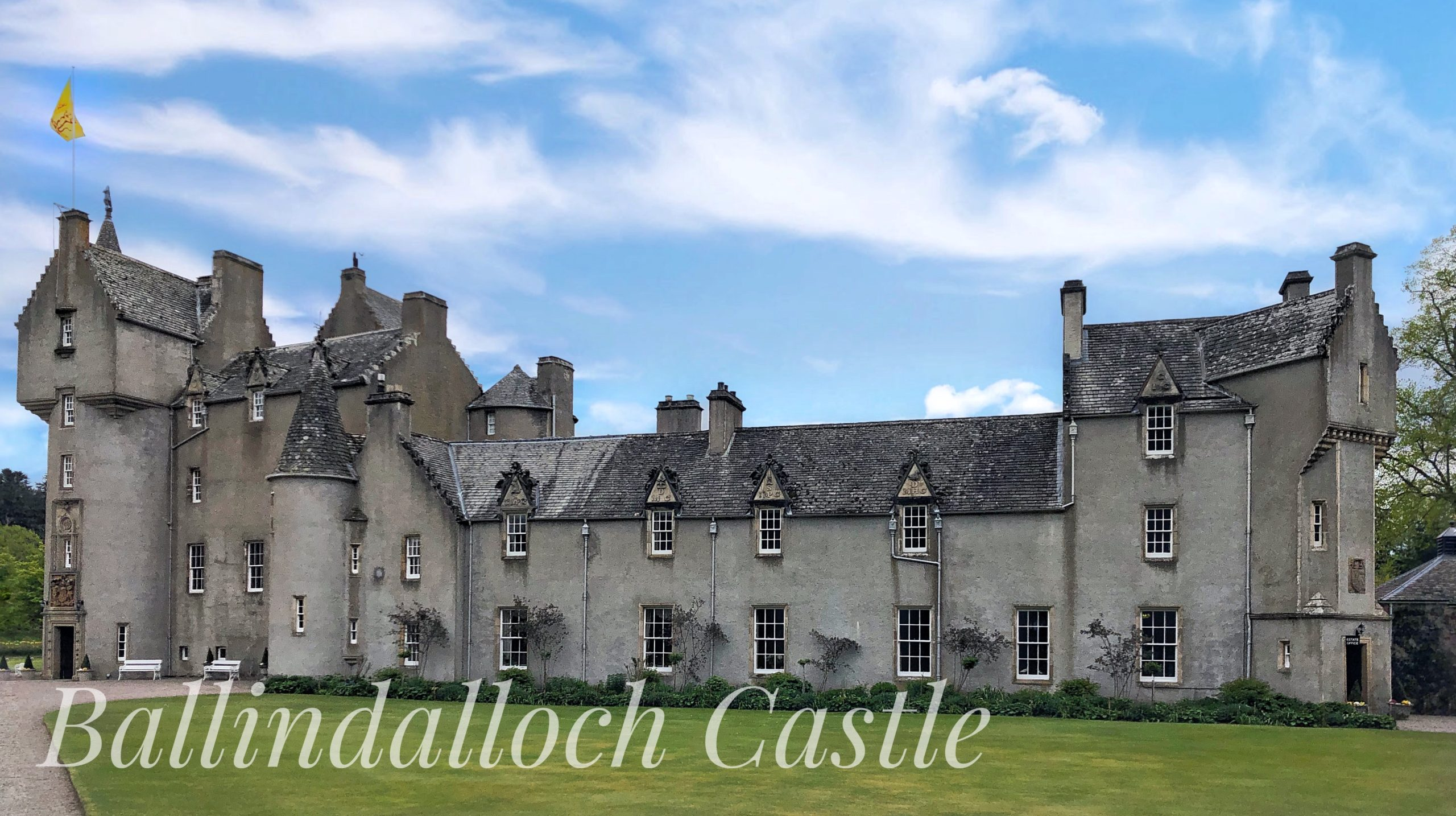 Ballindalloch Castle which is 8 miles from Aberlour Town in Banffshire Scotland