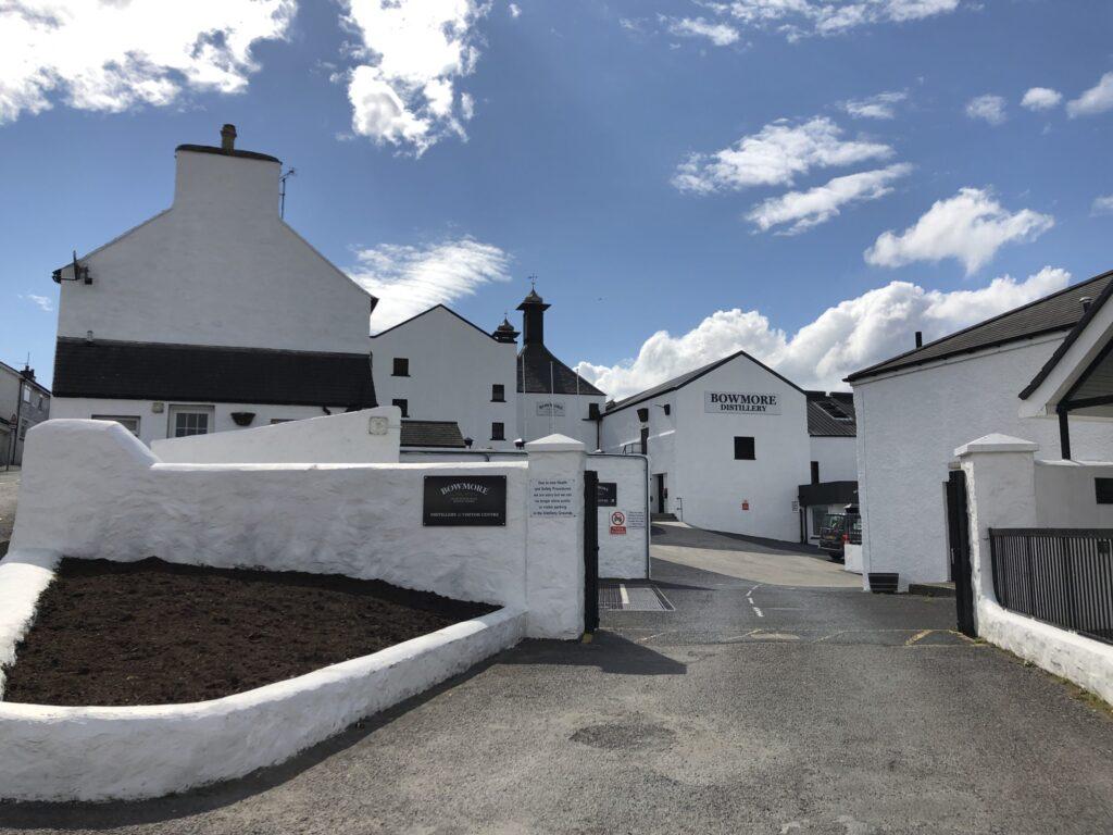 Bowmore Distillery in Islay Scotland