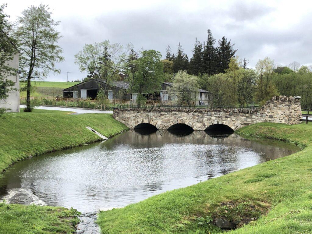 Bridge to Glenlivet Distillery located in Speyside Scotland