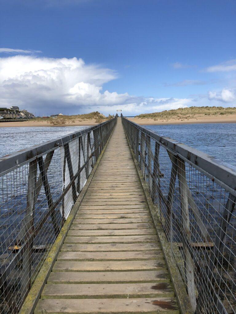 Bridge to Lossiemouth Beach in the Speyside Region