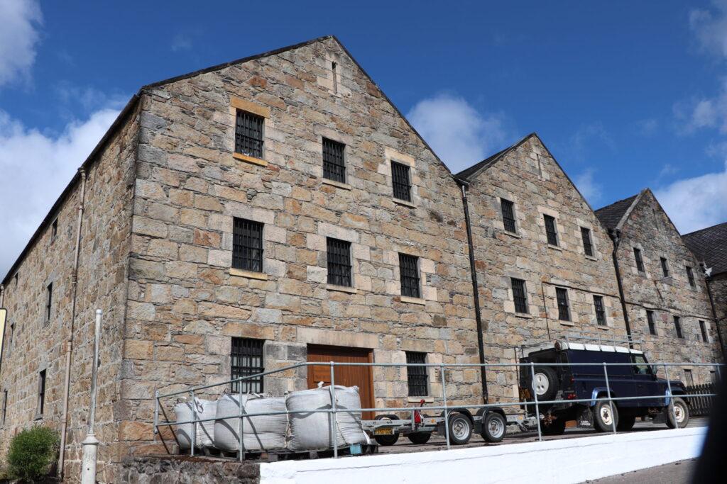 Cardhu Distillery Warehouses located in Speyside Scotland