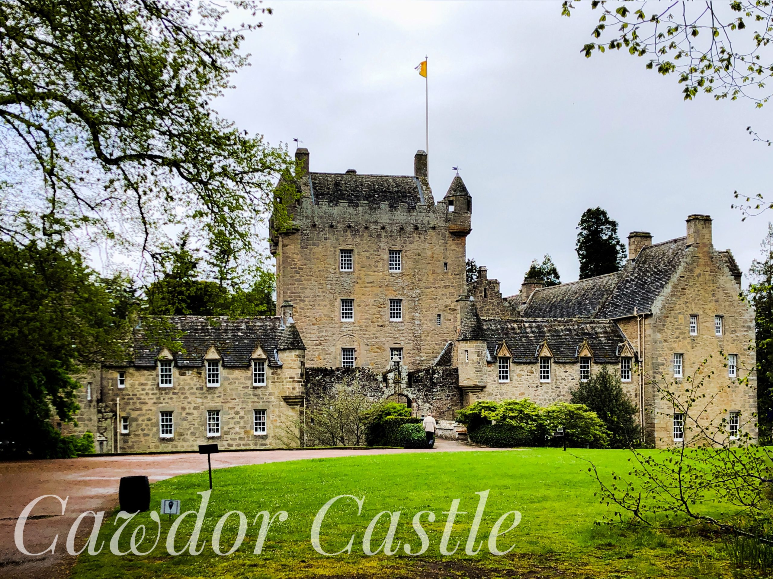 Cawdor Castle, located in Nairnshire, 14 miles from Inverness, Scotland