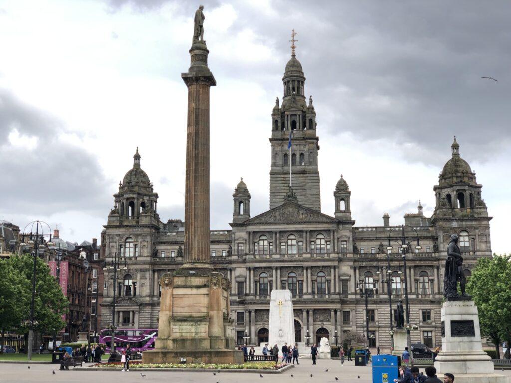 City Hall in George Square Glasgow Scotland