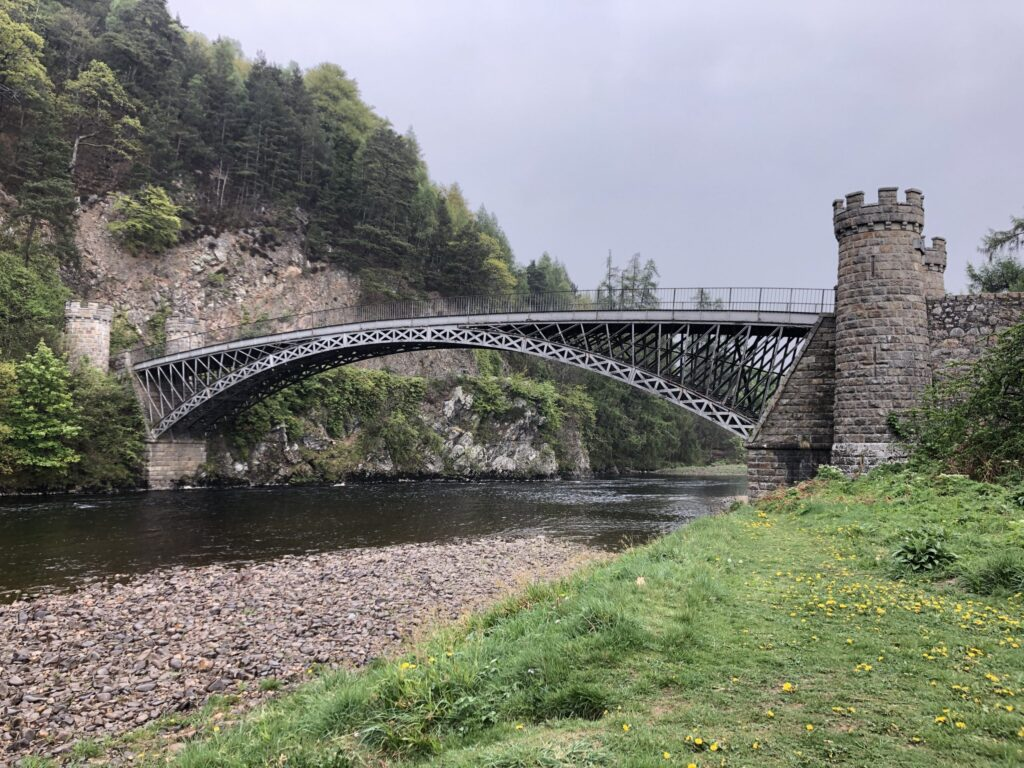 Craigellachie Bridge Crossing the River Spey in Craigellachie Scotland