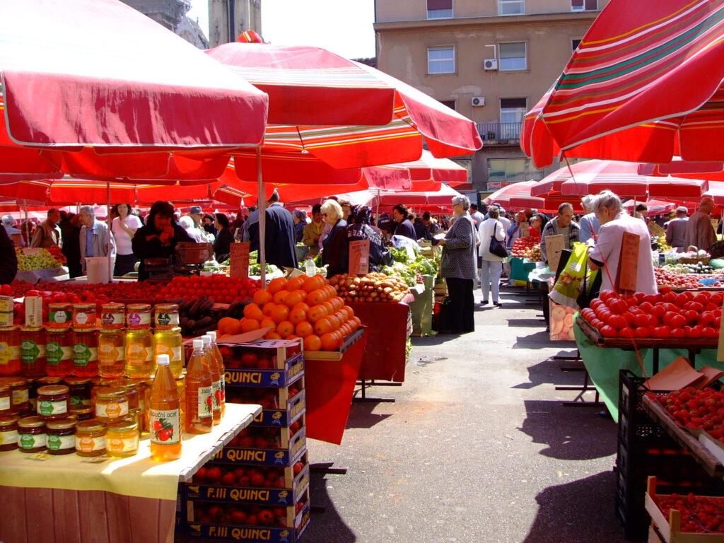 Dolac Market in Zagreb Croatia
