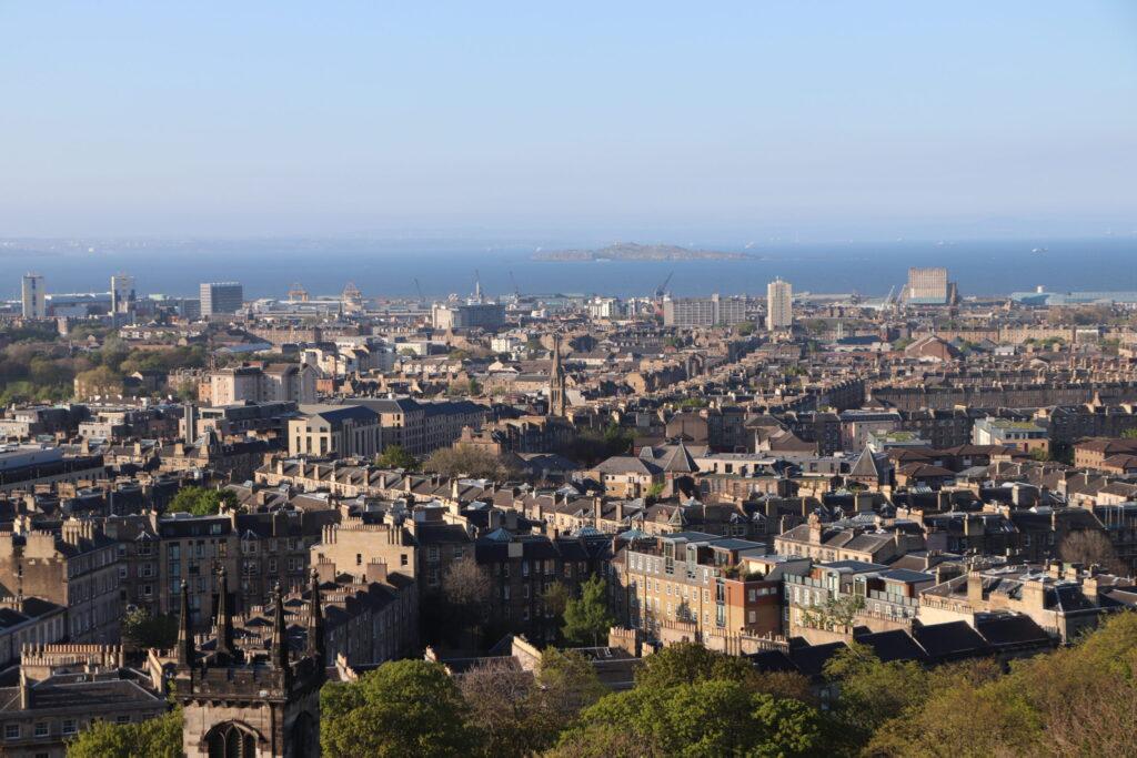 View of Edinburgh Scotland from Calton Hill