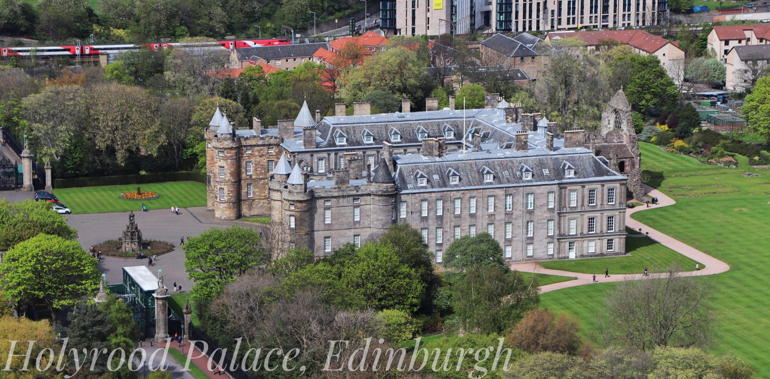 Holyrood Palace in Edinburgh Scotland