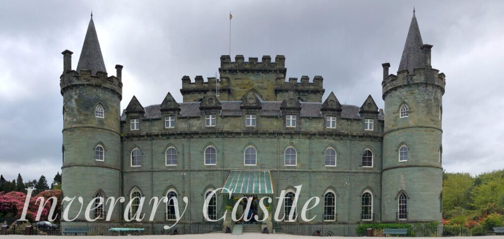 Inverary Castle, located in west Scotland on the shores of Loch Fyne