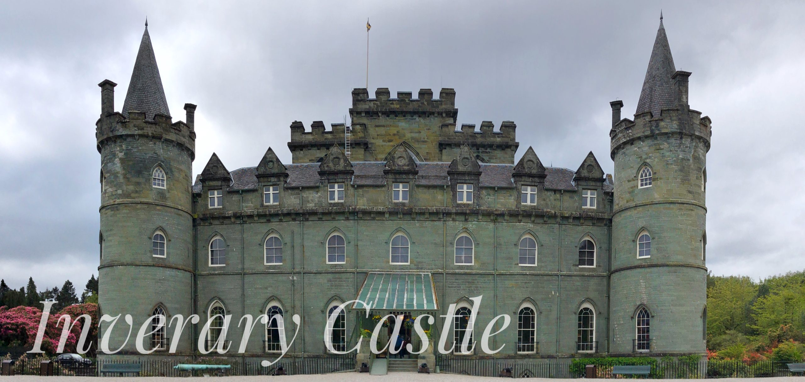 Inverary Castle located in west Scotland on the shores of Loch Fyne