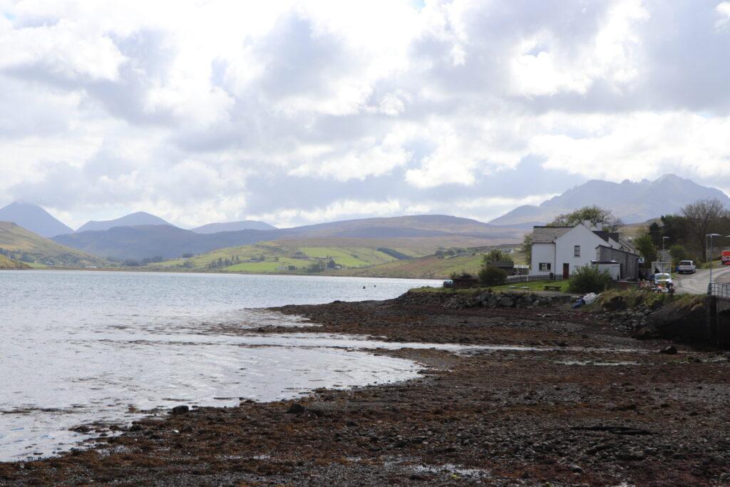 Loch Harport at Carbost by Talisker Distillery on Isle of Skye