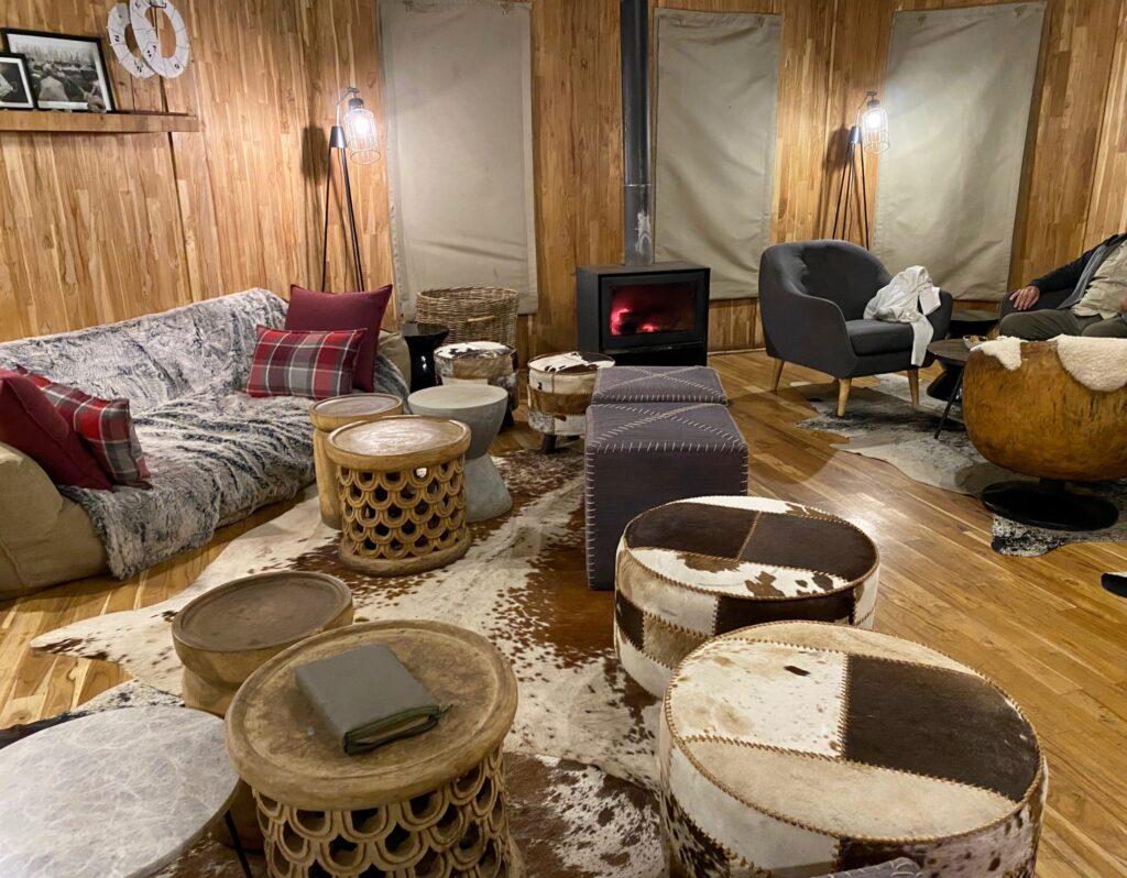 The Lounge at the Highlands Camp, Ngorongoro Crater, Tanzania
