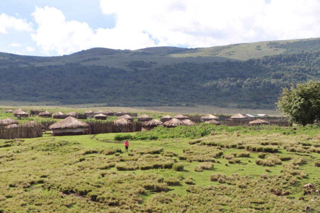 Larger Maasai Village in the Ngorongoro Crater, Tanzania