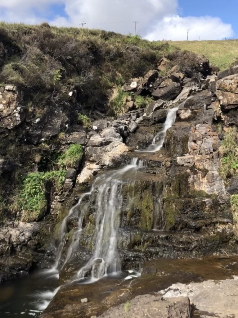 Multiple Tier Falls at Fairy Pools at the Foot of the Black Cullins