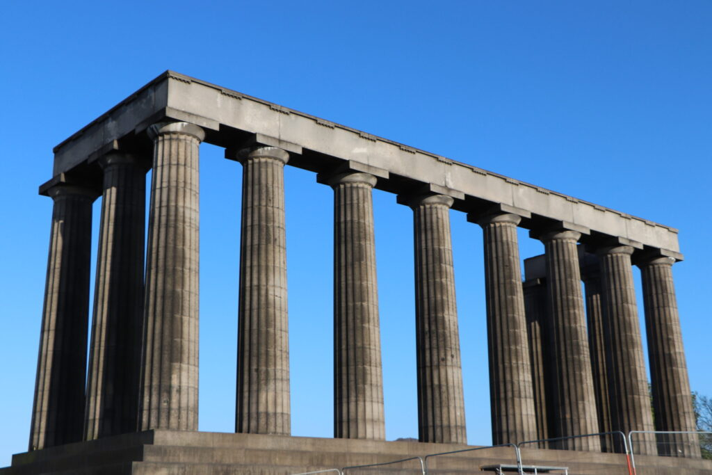 National Monument on Calton Hill at Edinburgh Scotland