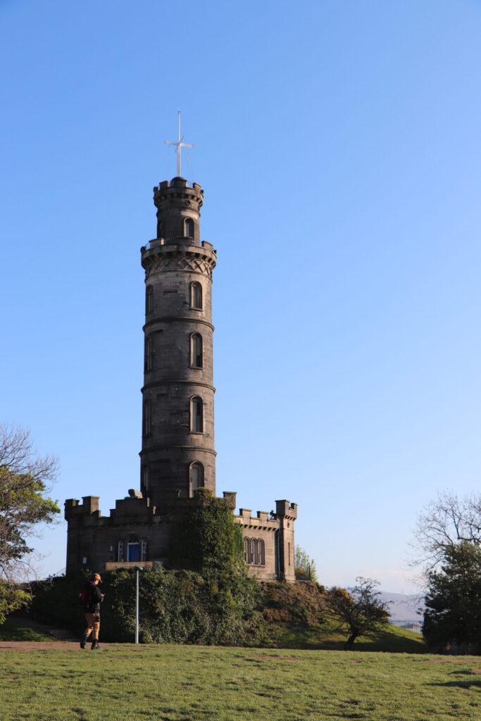 Nelson Monument on Calton Hill at Edinburgh Scotland
