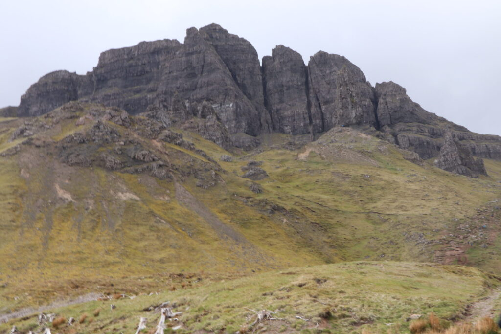 Old Man of Storr on the north of Skye on the Trotternish peninsula of Scotland