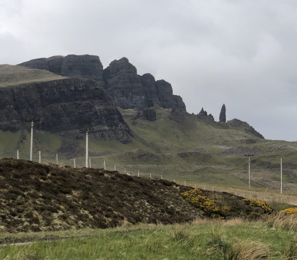 Rugged Mountains of the Old Man of Storr on the north of Skye on the Trotternish peninsula of Scotland