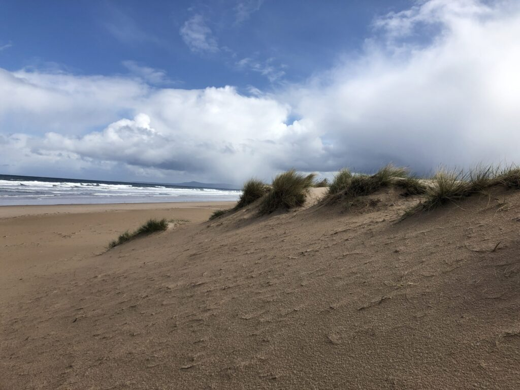 Sand Dunes at Lossiemouth in the Speyside Region of Scotland